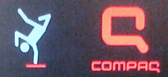 new compaq logo. New Compaq POST screen