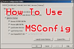 How to use MSConfig to optimize your startup entries